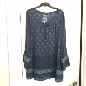 Johnny Was Embroidered Tunic Cover-up